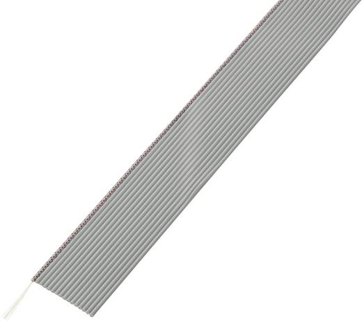 Conrad Components 607115 Lintkabel Rastermaat: 1.27 mm 10 x 0.035 mm² Grijs 30.5 m