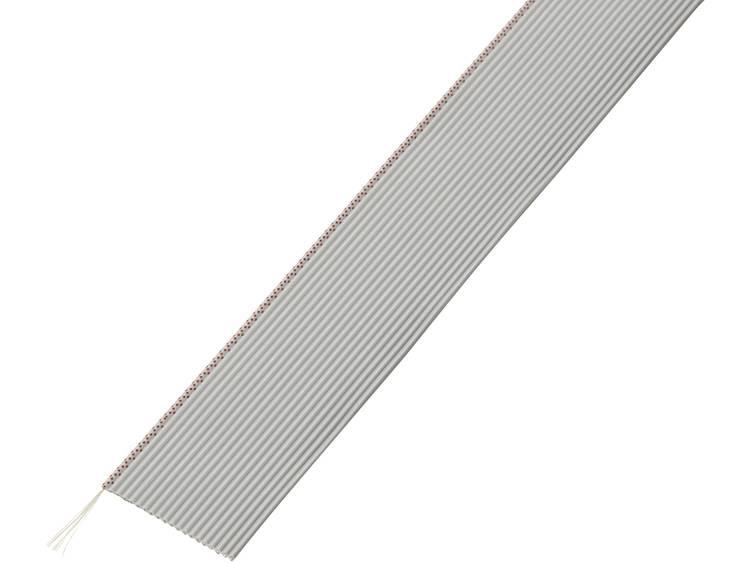 TRU COMPONENTS 1567187 Lintkabel Rastermaat: 1.27 mm 20 x 0.035 mm² Grijs 30.5 m