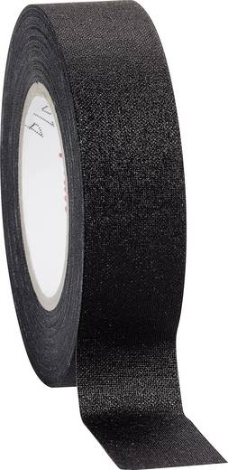 Coroplast Textieltape Zwart (l x b) 10 m x 19 mm Rubber Inhoud: 1 rollen