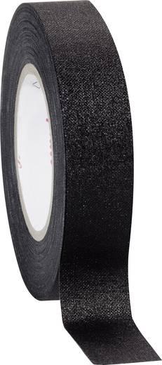 Coroplast Textieltape Zwart (l x b) 10 m x 15 mm Rubber Inhoud: 1 rollen