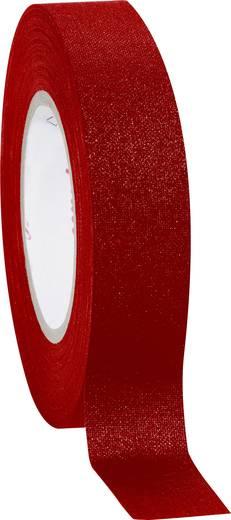Coroplast Textieltape Rood (l x b) 10 m x 19 mm Rubber Inhoud: 1 rollen