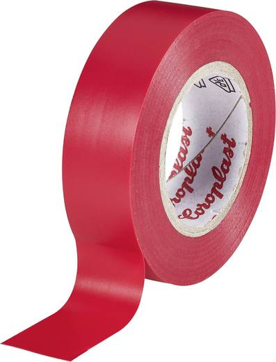 Coroplast Isolatietape Rood (l x b) 25 m x 19 mm Acryl Inhoud: 1 rollen