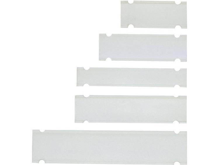 Kabelmarkering Montagemethode: Kabelbinder Markeringsvlak: 38 x 10 mm Geschikt voor serie Universeel gebruik, Enkele aders Transparant LappKabel PTEF 10-38