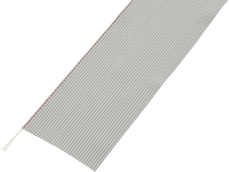 Conrad Components 608474 Lintkabel Rastermaat: 1.27 mm 26 x 0.035 mm² Grijs 30.5 m