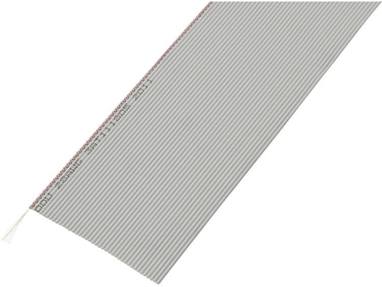 TRU COMPONENTS 1567188 Lintkabel Rastermaat: 1.27 mm 40 x 0.035 mm² Grijs 30.5 m