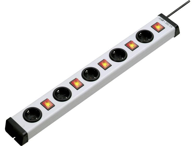 Ehmann Stekkerdoos met schakelaar 5-voudig 1.5 m Geaarde stekker Grijs-zwart 0202x00052301