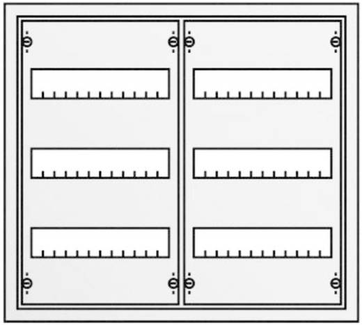Striebel & John 30120 AT32 Verdeelkast Opbouw Aantal groepen = 72 Aantal rijen = 3