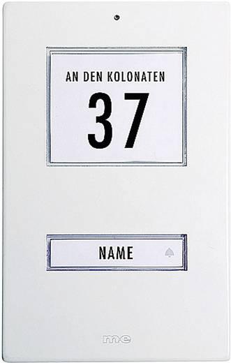 Belplaat verlicht, met adresveld, met naambord m-e modern-