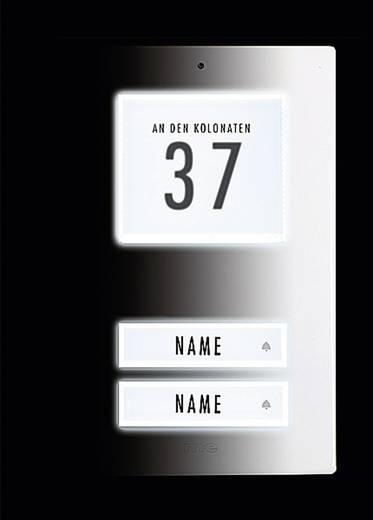 Belplaat verlicht, met adresveld, met naambord 2-voudig m-e