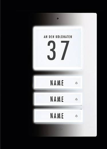 Belplaat verlicht, met adresveld, met naambord 3-voudig m-e