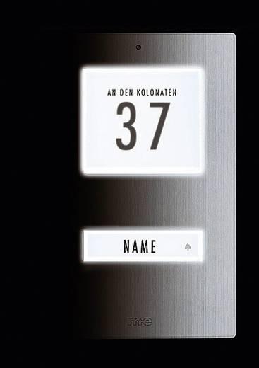 Belknop verlicht, met adresveld, met naambord 1-voudig m-e