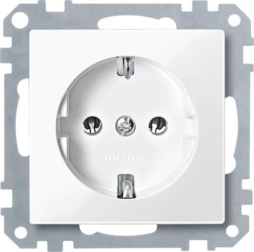 Merten MEG2301-0319 Stopcontact Systeem M sneeuw-wit Polar-wit glanzend
