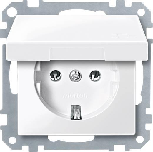 Merten MEG2311-0319 Stopcontact met deksel Systeem M Polar-wit glanzend