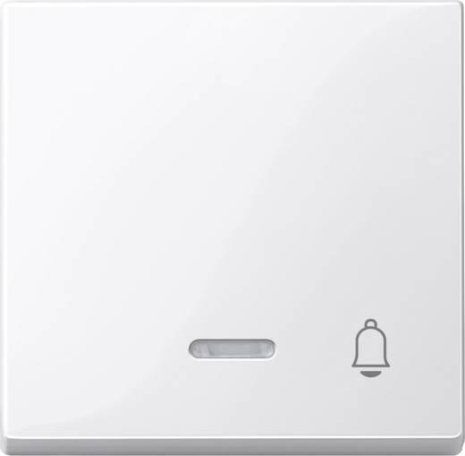 Merten 435819 Wipschakelaar, druktoets symbool deurbel, Systeem M Polar-wit glanzend