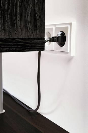 Platte stekker met randaarde Kunststof 230 V Wit IP20 EVOline 103220
