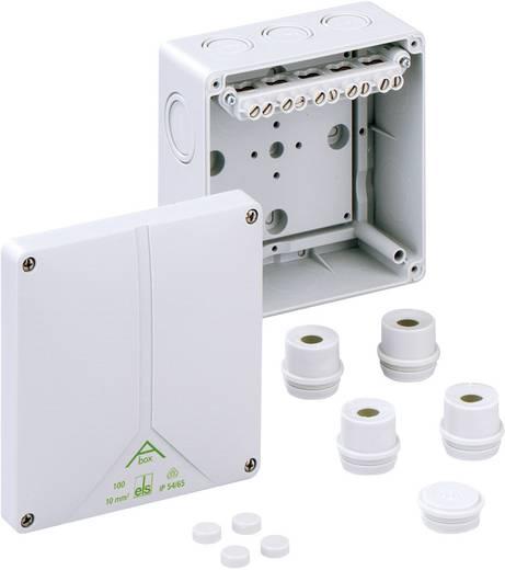 Spelsberg met hoogliggende 5-polige schroefklem tot 10 mm² Verbindingsdozen Abox 100 - 10² 81041001 Grijs