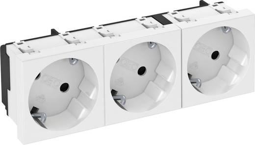 OBO Bettermann 3 voudige stopcontact voor kabelgoot Zuiver wit 1 stuks
