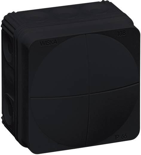 Aftakkast (l x b x h) 76 x 76 x 51 mm Wiska 10061999 Zwart IP66