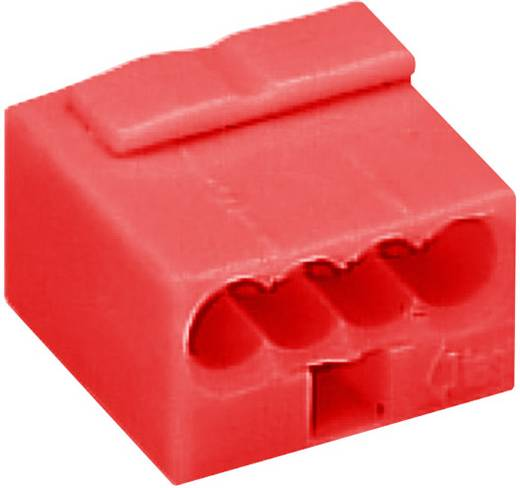 WAGO 243-804 Lasklem Flexibel: 0.6- Massief: -0.8 mm² Aantal polen: 4 1 stuks Rood