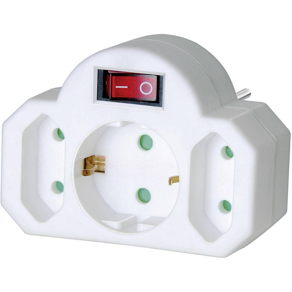 Brennenstuhl 1508100 Schakelbare adapter voor het stopcontact Wit