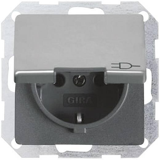 GIRA Inbouw Stopcontact met randaarde System 55, Standaard 55, E2, Event, Event Clear, Event Opaque, Esprit, ClassiX Aluminium 0454 26