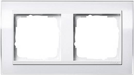 GIRA 2-voudig Frame Event Clear, Standaard 55, System 55 Wit (glanzend) 0212 723
