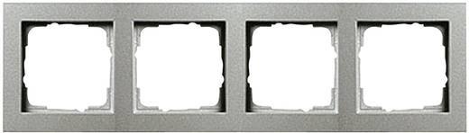 GIRA 4-voudig Frame E2, Standaard 55, System 55 Aluminium 0214 25