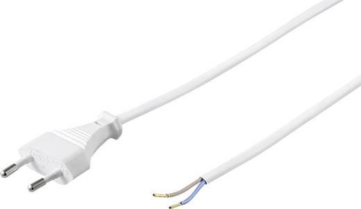 Stroom Aansluitkabel [ Euro-stekker - Kabel, open einde] Wit 1.50 m