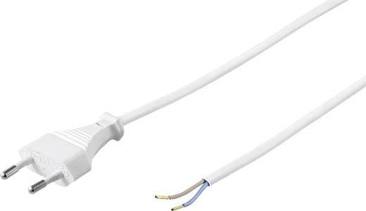 Stroom Kabel [ Euro-stekker - Kabel, open einde] Wit 1.50 m