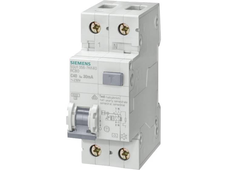Aardlekschakelaar 1-polig 20 A 230 V Siemens 5SU1656-6KK20