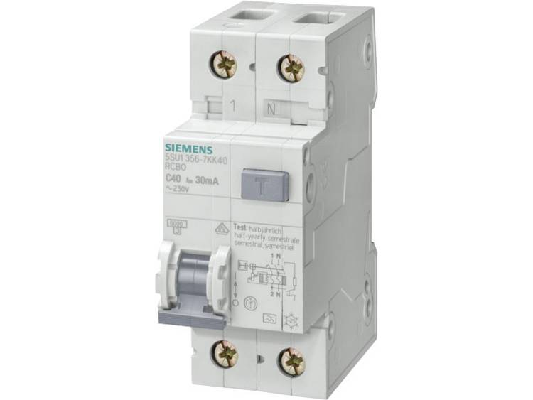 Aardlekschakelaar 1-polig 25 A 230 V Siemens 5SU1656-6KK25
