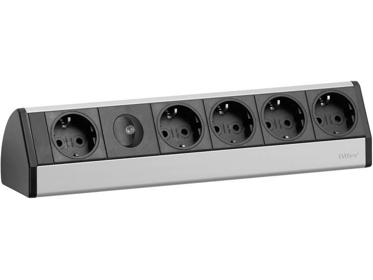 Schulte Elektrotechnik 93000013 Stekkerdoos zonder schakelaar 3 m Geaarde stekker Zwart-zilver