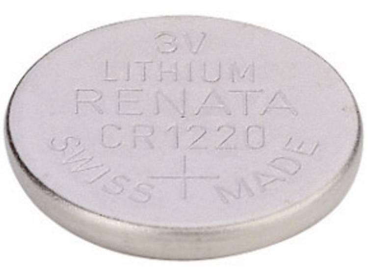 CR1220 Knoopcel Lithium 3 V 35 mAh Renata CR1220 MFR 1 stuk(s)