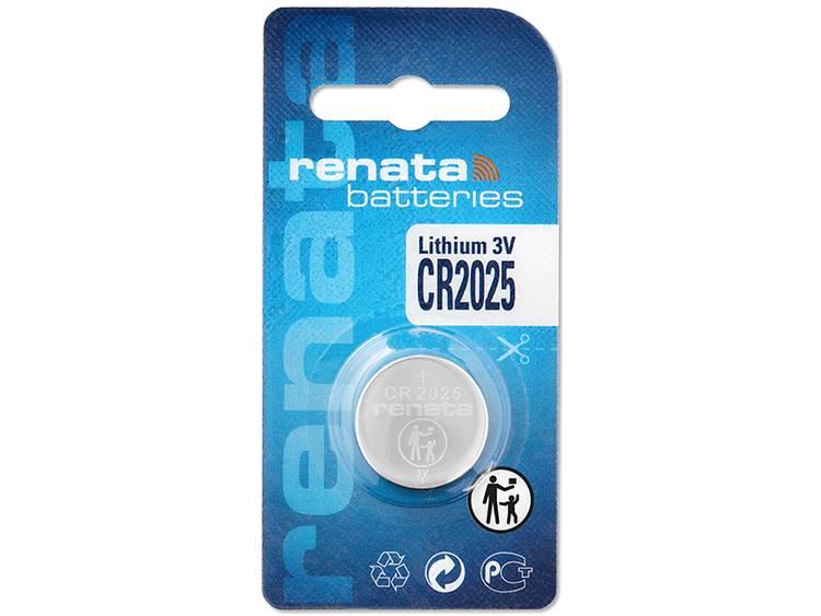 CR2025 Knoopcel Lithium 3 V 165 mAh Renata CR2025 1 stuk(s)