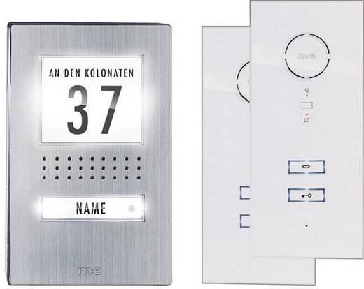 m-e modern-electronics ADV 112 WW Complete set voor Deurintercom Kabelgebonden 1 gezinswoning RVS, Wit