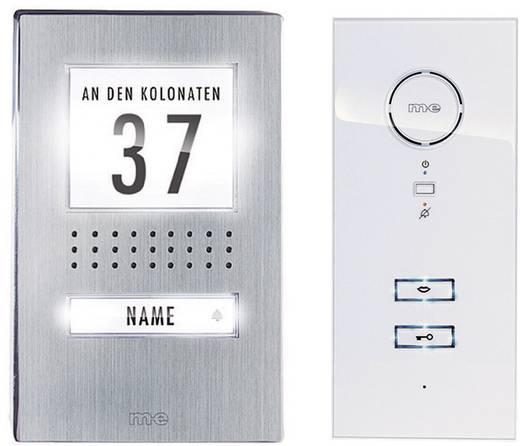 m-e modern-electronics ADV 111 WW Complete set voor Deurintercom Kabelgebonden 1 gezinswoning RVS, Wit