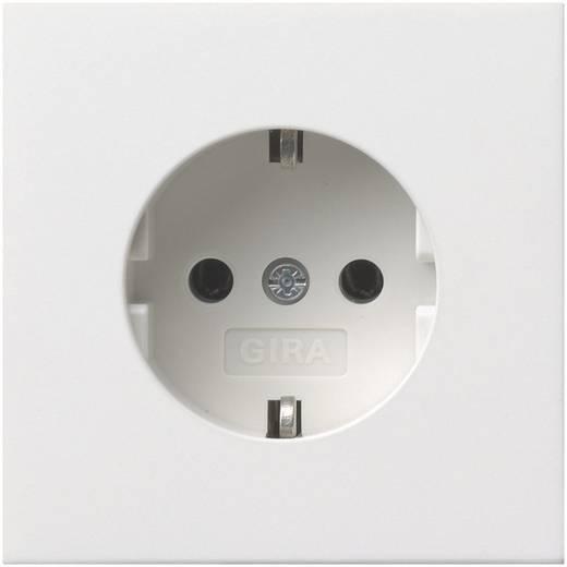 GIRA Inbouw Stopcontact met randaarde Vlakke schakelaar Zuiver wit 0188112
