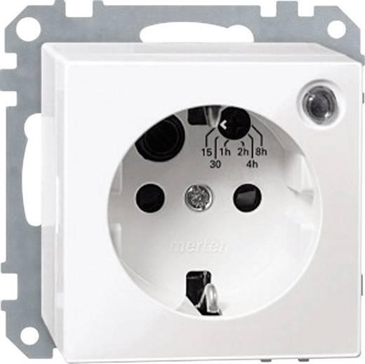 Merten 501119 Schakelklok-stopcontact Polar-wit glanzend