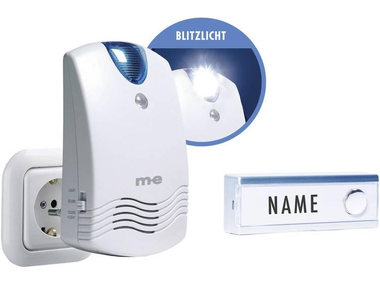 m-e modern-electronics FG1.2 Complete set voor Draadloze deurbel Met naambord, Met flitslicht