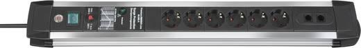 Brennenstuhl 1391000606 Overspanningsveilige stekkerdoos 6-voudig Randaarde stekker Zwart, Aluminium