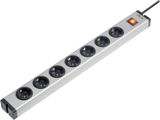 Ehmann 0601x00072031 Stekkerdoos met schakelaar 7-voudig Randaarde stekker Aluminium