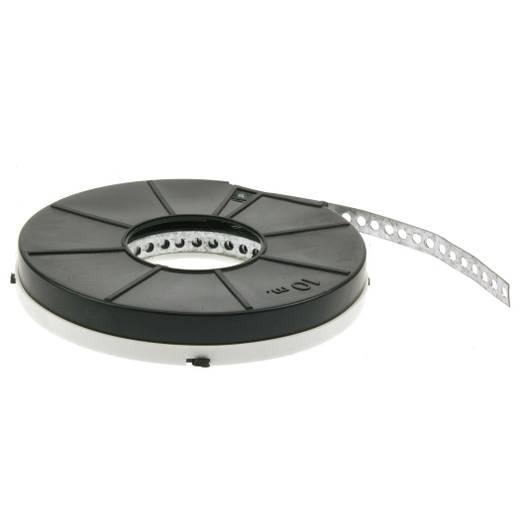 metalen montagestrip voor kabelgoot Verzinkt 10 m 12 x 0,75 mm, gat-Ø 5 mm