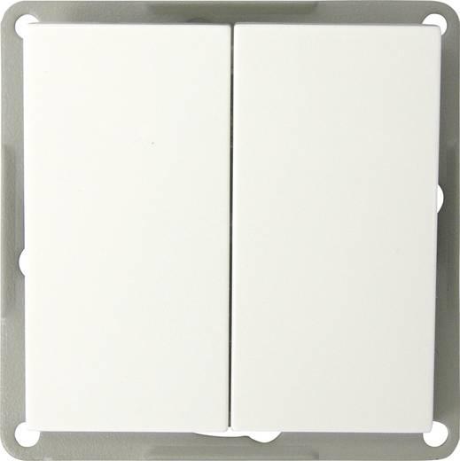 GAO Inbouw Dubbele wisselschakelaar Modul Wit EFP200A