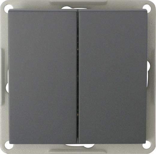 GAO Inbouw Dubbele wisselschakelaar Modul Zwart EFP200A