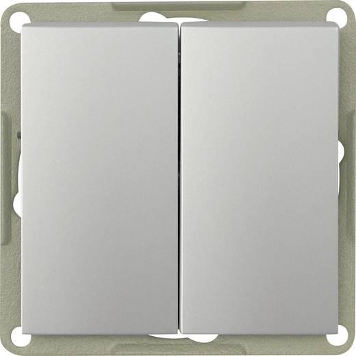 GAO Inbouw Dubbele wisselschakelaar Modul Zilver EFP200A