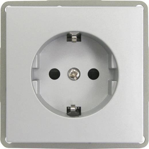 GAO Inbouw Stopcontact met randaarde Modul Zilver EFP300G
