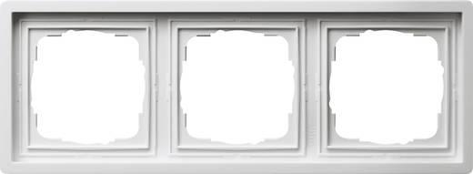 GIRA Vlakke schakelaar 3-voudig Frame Wit 0213112