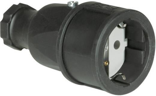 Koppeling met randaarde Rubber 230 V Zwart IP20 PCE 2510-s