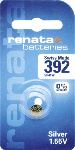 Renata SR41 Hochstromfähig Knoopcel Zilveroxide 45 mAh 1.55 V 1 stuks