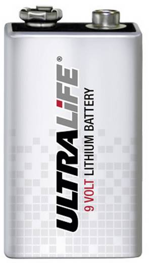 9V batterij (blok) Ultralife U9VL-J-P 6LR61 Lithium 1 stuks
